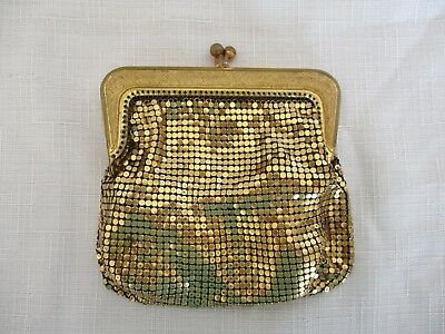 Vintage Oroton Gold mesh Coin Purse Made in West Germany