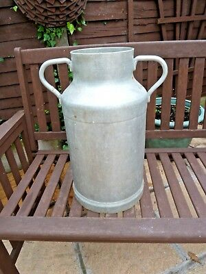 Vintage French Aluminium Milk Churn without Lid