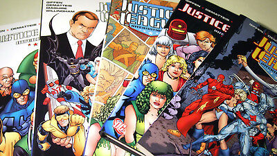 Justice League International Vol 1 2 3 4 5 HC Hardcover   Keith Giffen DC   NEW
