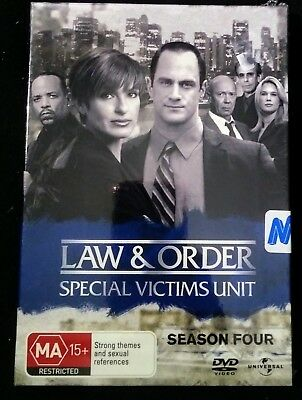 Law & Order Special Victims Unit SVU Season 4 DVD 5 Discs Region 4 New & Sealed