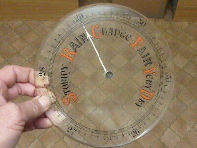 "Good Old Aneroid Barometer 7 7/8"" Thick Bevelled Glass - Hand-Set Knob (Rp)"