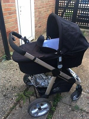 iCandy Apple 2 Pear Pram With Red Hood On Stroller