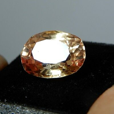 7.35 CT Natural Certified Oval Ceylon padparadscha Color Sapphire Loose Gemstone