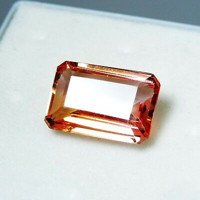 10.20 CT Natural Certified Emerald Ceylon padparadscha Color Sapphire  Gemstone