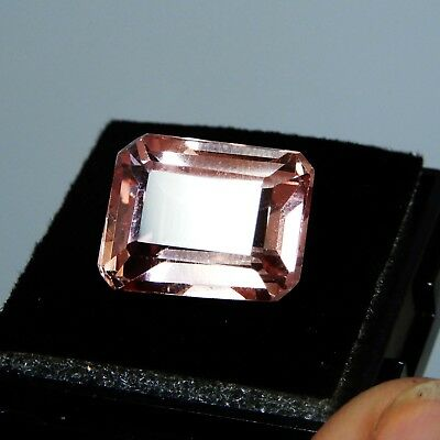 13.50 CT Natural Certified Emerald Ceylon padparadscha Color Sapphire  Gemstone
