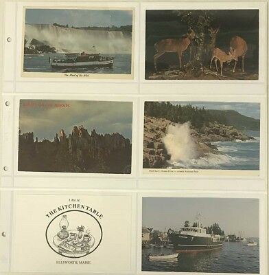 Lighthouse Maximum Wide Pages 6 Pockets Vintage Postcards Horizontal Clear Sheet
