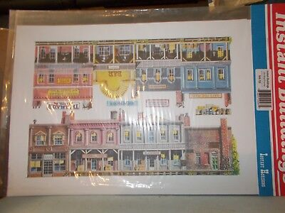 Walthers Instant Buildings 949-723 Confezione Sfondi Per Plastici Tipo Old West