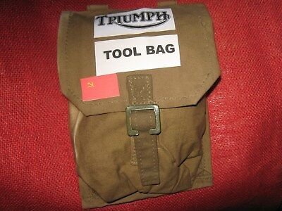 Triumph Motorcycle Vintage Tool Bag - Or Russian Army Grenade Pouch
