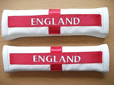 2 x England Seat Belt Covers, New but not in Original Packaging