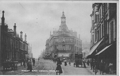 West End Cross, Paisley. Real Photo.