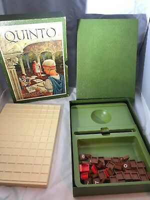 Vintage 3m QUINTO Boardgame Bookshelf 1968 Version Missing Pieces