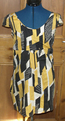Fab 1960s Vintage Style Summer Tea Dress Size 12 Tunic capped pinup/cocktail