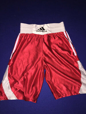 Adidas Mens Red Boxing Shorts SIze S