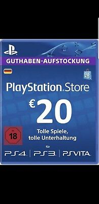Sony PlayStation Network 20 Euro Card (NEU!)