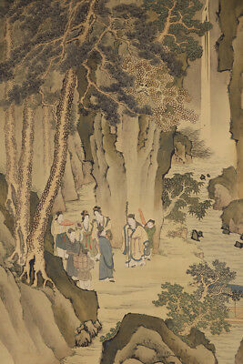 JAPANESE HANGING SCROLL ART Painting Sansui Landscape Asian antique  #E4786