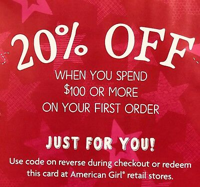 ➡️ FAST CODE! AMERICAN GIRL 20% OFF First Order of $100 or more Exp 11/20/18