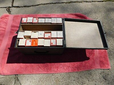 Slide or coin tray storage tray box w/ 21 slide trays