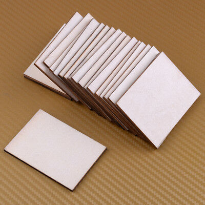 20X Premium Wood Plywood Sheet Blank Wooden Board Sheets Label Cards DIY Craft