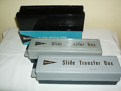 Vintage Boots 35 mm Slide Box and Slide Transfer Boxes