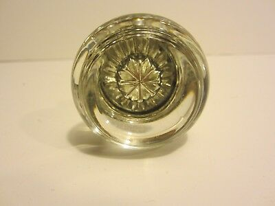 1 Pair of Antique Round Crystal Glass Door Knobs Shapleigh's! 6 Pair Available!
