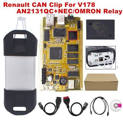 Can V178 for Renault Diagnose OBD2 Diagnostic Interface Scanner Tool NM