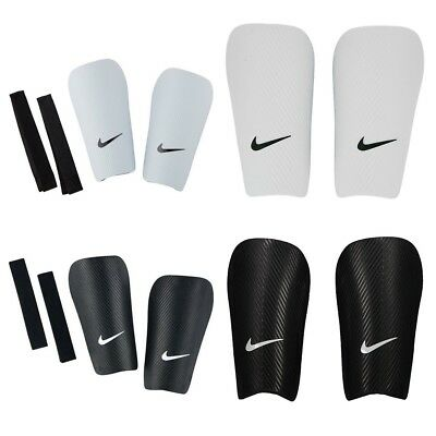 Nike Shin Pads Football Sports Protection Guard Hard Shell Black White