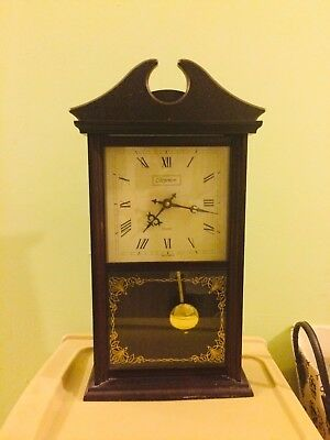 Vintage Westminster Chime Pendulum Battery Operated Wall Clock Fully Working