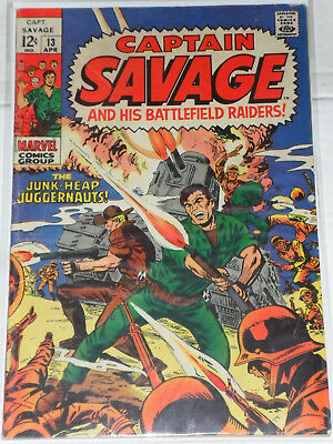 Captain Savage and his Leatherneck Raiders (Marvel) Nr. 13 *SILVER AGE* Apr 1969
