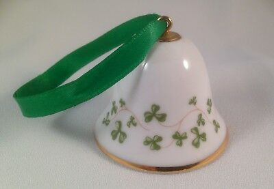 Royal Tara Fine Bone China made in Galway Ireland small Shamrock BELL EX. Cond!