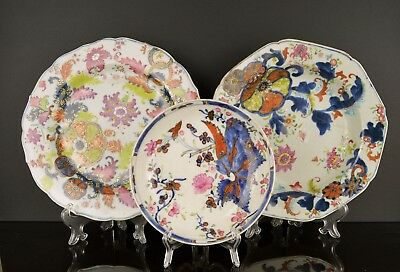 A Pair Of Chinese 18Th Century Porcelain Tobacco Leaf Pattern Plates Af