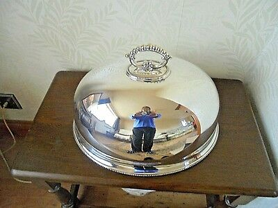 Large Vintage Silver Plated Food Cover/Cloche