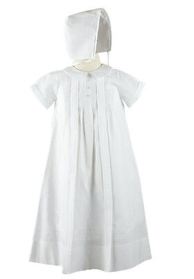 Feltman Brothers Boys Christening Gown with Hat White NWT, 0/3m, 6/9m, 9/12m