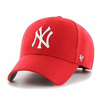 (TG. Taglia unica) Rosso - rosso ' 47 Cap MLB New York Yankees MVP, Red, (4TH)