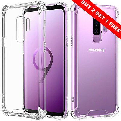 For Samsung Galxy S9 S9 Plus Case Shockproof Crystal Clear Hard Hybird Bumper