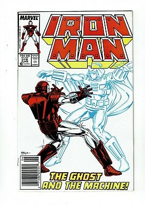 Iron Man #219, VF 8.0, 1st Appearance The Ghost (Ant-Man and the Wasp movie)
