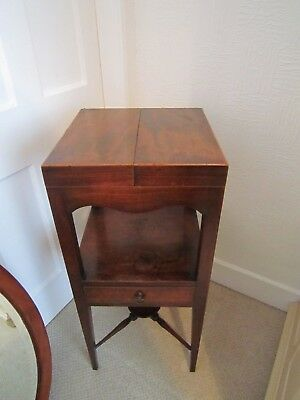 George III mahogany wash stand with fold-over top