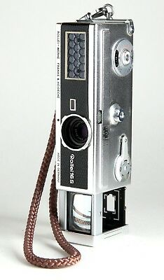 Rollei 16S Black 'Snake Skin' Subminiature Camera W/ Zeiss Tessar 25Mm 2.8