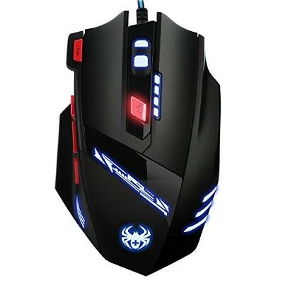 AMIR 9200DPI USB Kabel Gaming Maus mit 8 Tasten LED und USB-Wired