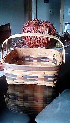 Longaberger 1997 Shades of Autumn basket with liner and protector
