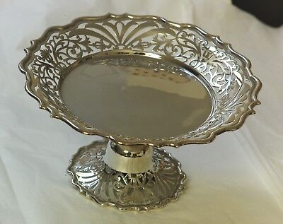 Beautiful Late Victorian heavy sterling silver compote/sweet dish