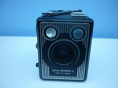 Six-20 'Brownie ' E Box Camera by Kodak with carrying case - Untested