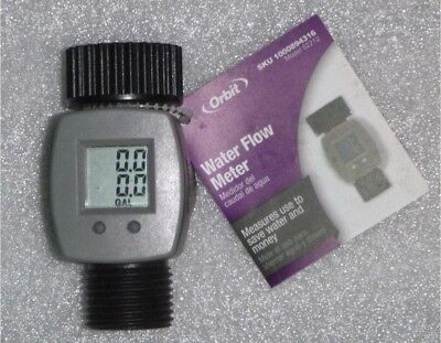 Brand New Orbit 52212 Digital Water Flow Meter