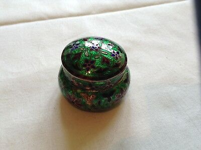 Silver And Cloisonne Enamel Pill Box.....indian