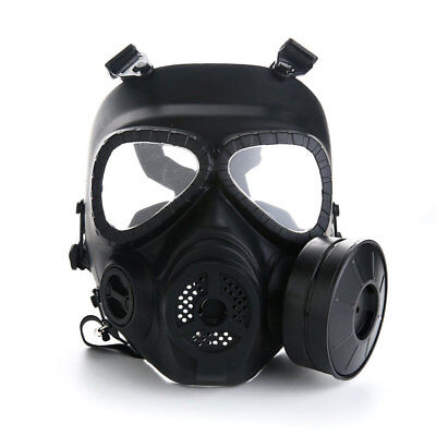 Breathable Single Filter Fan Gas Mask Perspiration Dust Face Guard CS Edition