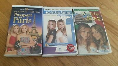 TESTED Mary Kate and Ashley Olsen Lot Vhs Tapes - Passport to Paris, Tv, Rome