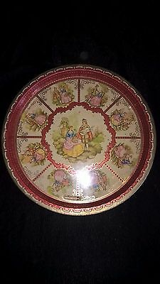 Early 1900's Vintage Tin Litho Young Lovers Serving Tray Made in England