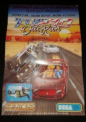 Turbo OutRun Poster and Instruction Insert from C64