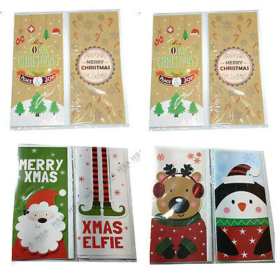 Christmas Money Wallet, 4 Large Festive Money Wallets,Traditional Money Wallet