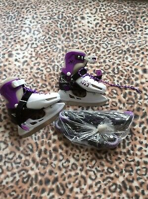 Girls Adjustable and Changable Ice Skate and Roller Blades Size 11 - 13.5