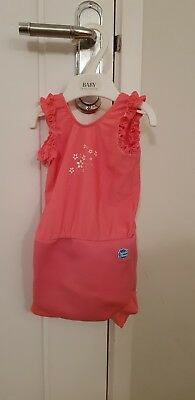 Splash About Happy Nappy Girls Swimming Costume Swimsuit Large Pink
